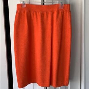 Dresses & Skirts - ❤️ St John  Women's Orange Wool Blend Pencil Skirt